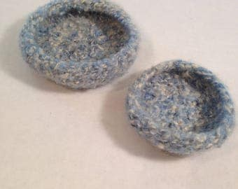 Hand Knit Felt Bowls