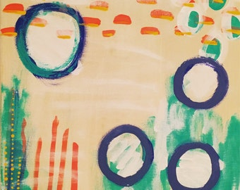 12x12 abstract circles