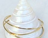 thin, gold-filled bangles