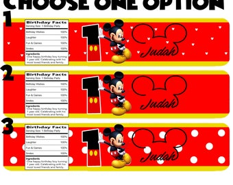 Personalized Mickey Mouse Water Bottle Labels !
