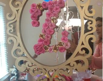 decorative paper flower letter