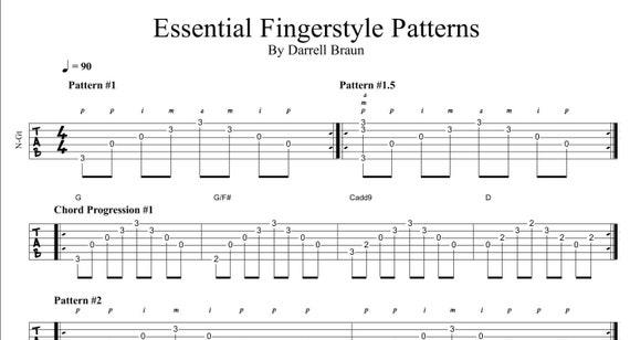 Guitar fingerpicking patterns pdf