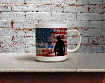 Thin Blue Line Coffee Mug - Patriotic Support Police Coffee Mug