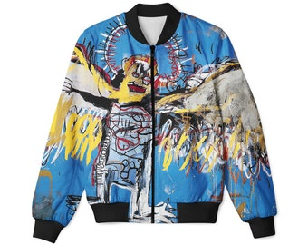 Untitled (Fallen Angel) JEAN-MICHEL BASQUIAT bomber jacket, all sizes avalible