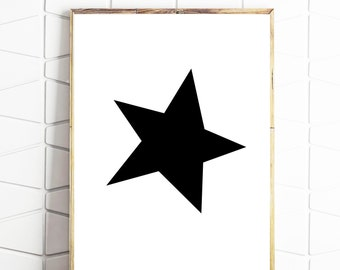 star printable decor, star nursery wall art, star scandi art, star printable art, star wall art print, star print, star poster, star art