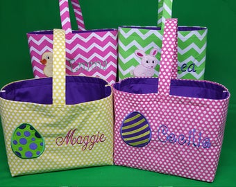 Design Your Own Personalized Easter Basket/Bag, Embroidered, Handmade