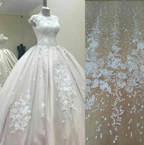 luxury bridal wedding dress fabric tulle lace fabric lace