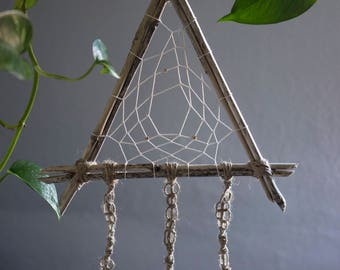 Dreamchatcher natural shells macrame