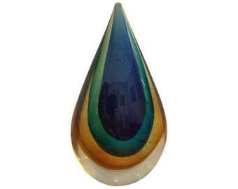 Murano Glass Teardrop Figure