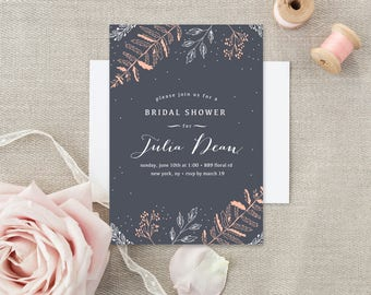 Bridal Shower invitation - Printed