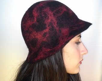 Wool felt hat, hat, hat, hat brim small female, winter hat, Asama
