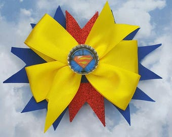 SuperWoman / Superman Hair Bow