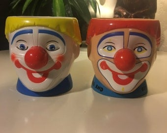 Collectible Ringling Brothers Set of 2 Clown Cups