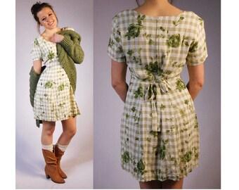 Vintage Cotton Dress Cotton Mini Dress Country Dress Country Frock Peasant Dress Summer Dress Sun Dress Bentley Cotton Floral Sun Dress
