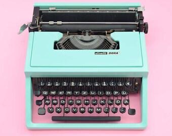 Mint Green Olivetti Dora typewriter