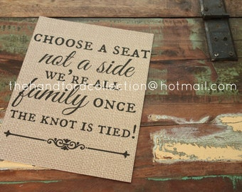 SALE Today two families printed sign 10x8