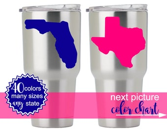 State Decals for Men, State Decals for Women, Yeti Decal for Men, Yeti Texas Decal, Yeti Stickers for Men, Yeti Decal Texas DECAL ONLY 5HP0Y