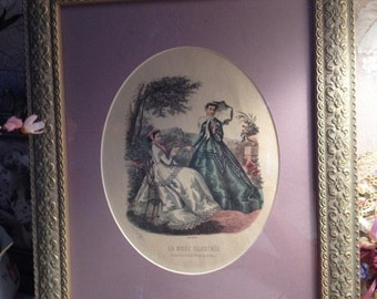 Antique Fashion La Mode Illustree 1875 to 1886 Fashion Plate