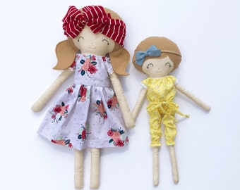 One custom, made-to-order Nova MINI fabric doll