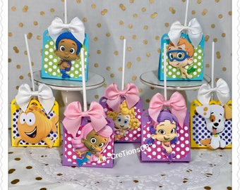8 Bubble Guppies Inspired Lollipop Favors