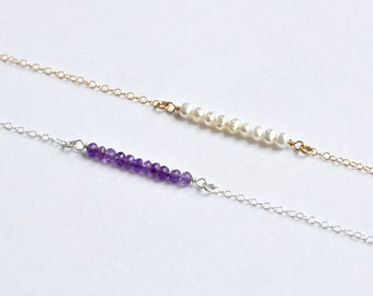 Birthstone bar bracelet ~ all months available