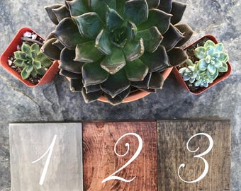Wooden Table Numbers (Set of 10) Wedding Decor, Table Numbers, Wedding Table Numbers, Table Decor, Rustic Table Numbers, Reception Decor