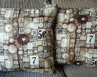 Numbers Cushion.