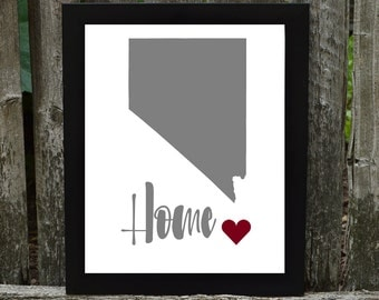 Nevada Digital Download, Nevada Print, States Downloadable Print