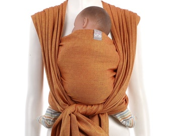 SALE 15% OFF Woven Baby Wrap - Gold-Red Baby Wrap - Baby Carrier - Woven Wrap Baby Carrier