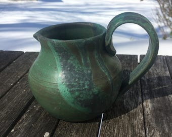 Small Green Patina Pitcher
