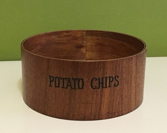 Retro Wooden Chip Bowl