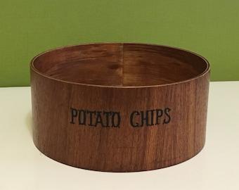 Retro Wooden Chip Bowl