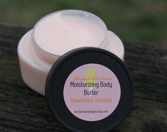 BEST SELLER! Dreamsicle body butter, candy scented body butter, all natural body lotion, organic, chemical free, moisturizing skin care