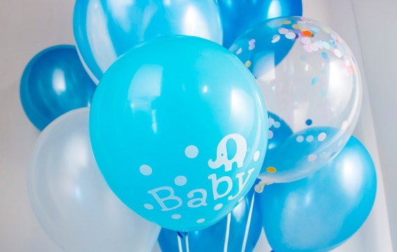 Baby Shower Balloons Free Delivery ~ Baby shower boy confetti bouquet balloons party au free