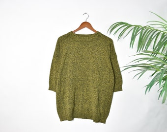 Vintage Oversized Black and Yellow Knitted Sweater