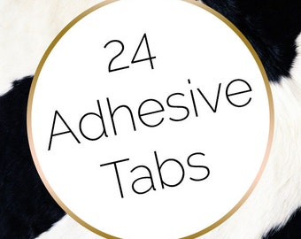 24 Press on Nail Adhesive Tabs | Nail Glue Alternative | Nail Adhesive | Fake Nails | Nail Stickers | Stick on Nails | Dippy Cow Nails