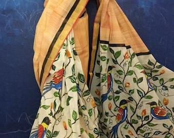 Handpainted Cotton Saree