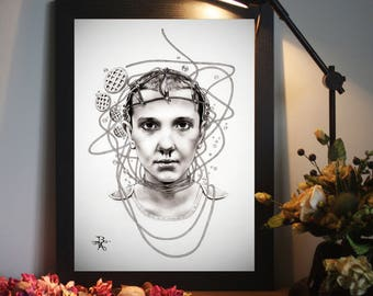 Eleven from Stranger Things - A4 Art Prints