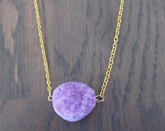 Necklace with Druzy stone