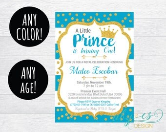 Birthday Little Prince Invitation, Any Color, Any Age