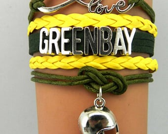 Green Bay Packers Love Friendship Charm Bracelet