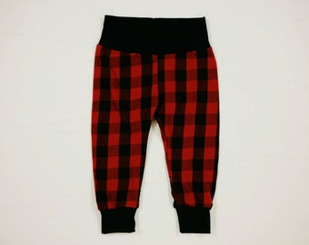 Baby Leggings - Toddler Leggings -  - Buffalo plaid leggings - Baby Clothes - Buffalo Plaid Pants - Lumberjack baby pants