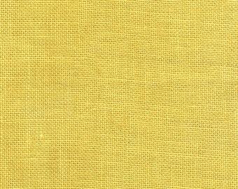 """30 Count Banana Yellow Hand Dyed Linen by Weeks Dye Works - Half Yard (25"""" x 17"""") #315"""