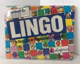 Vintage Lingo The Bingo Game that Teaches Language by Colorforms New