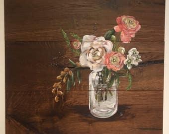 Mason Jar Wood Panel - ORIGINAL
