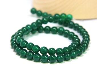 Green Agate Round Beads 4 6 8 10mm Green Onyx Mala Beads Green Agate Green Gemstone Beads Emerald Green Onyx Agate Bracelet Neklace Beads