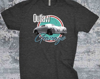 356 Outlaw Vintage Porsche T-Shirt - Ink Printed