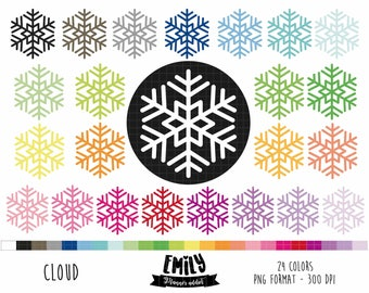 COD28- 80% OFF SALE Snowflake Clipart | winter clipart  | cold Printable  | cold clipart | Digital Graphics|Commercial use | PNG