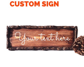 Custom Signs / Custom Wood Personalized Signs/ Hand Painted Wooden Signs/ Wood Signs Personalized/ Rustic Wood Signs/ Name Sign/ Family Sign