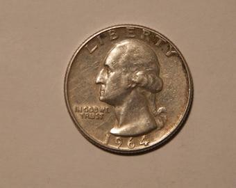 1964 silver quarter